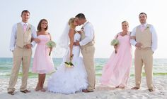 pink beach wedding in Destin florida by Princess Wedding co