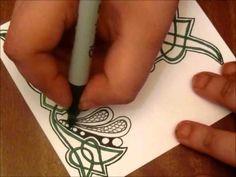 Celtic T Zentangle - YouTube