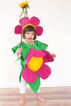 Purim Handmade Flower on a Leaf childrens costume by MYCOSTUME, $69.00