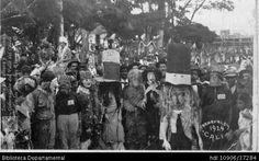 Biblioteca Departamental Jorge Garces Borrero y VIRGELINA SIERRA MONTAÑO. Comparsas de los carnavales de Cali en el Parque de Caizedo SANTIAGO DE CALI 1924: Biblioteca Departamental Jorge Garces Borrero