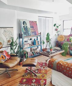 By @JustinaBlakeney + Co. Feel free, have fun and DECORATE WILD! Join us! Share your #JungalowStyle Our book: The New Bohemians.   More ideas