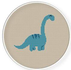 Buy 4 get 1 free ,Buy 6 get 2 free,Cross stitch pattern, Cross-StitchPDF,cute dinosaur,zxxc0182. $4.00, via Etsy.