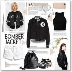 Bomber jacket by bogira on Polyvore featuring T By Alexander Wang, Forever 21, Mackage, H&M, Kenzo, MICHAEL Michael Kors and bomberjacket
