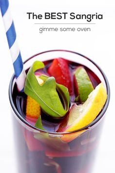 So good, Dole served us this sangria at their Taste of Spain Salad Summit - - - -> The BEST Sangria Recipe | Gimme Some Oven