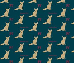 F is for Fennec Fox fabric by maile on Spoonflower - custom fabric