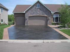 We love concrete inspiration! If you're looking for some options on decorative, exposed, stamped, brushed (etc.) concrete driveways, patios, walkways, etc. we are the people to talk to! Call us today at 780.460.2088. Email us at info@hmlconstruction.com www.hmlconstruction.com