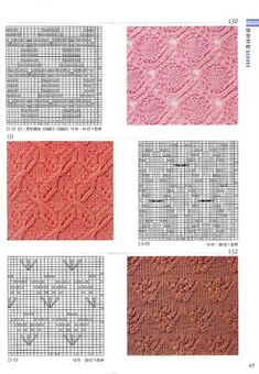 Knitting patterns book 300 - Ewa P - Веб-альбомы Picasa Cast On Knitting, Knitting Basics, Knitting Stiches, Loom Knitting Patterns, Knitting Books, Knitting Charts, Lace Knitting, Crochet Yarn, Knitting Projects