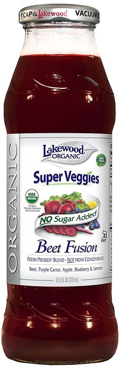 Lakewood Organic Juice Blend, Beet Fusion, 12.5 Ounce (Pack of 12) ** Special product just for you. : Fresh Groceries