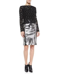 Metallic silver is the new grey!  Milly, 212 872 8988