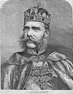 Franz Joseph wearing the hungarian crown