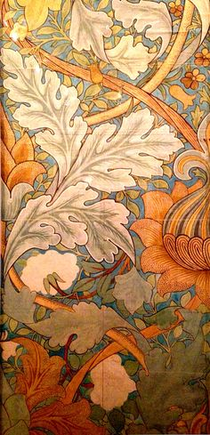 Textile design by William Morris                                                                                                                                                     More