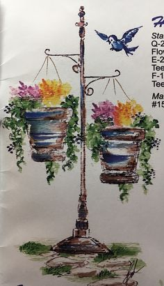 art impressions - watercolor - markers - catalog photo - hanging garden - Q-2057, D-1737, B-414, E-2441, AAA-1374, AA-1366, F-1723, AAA-1368