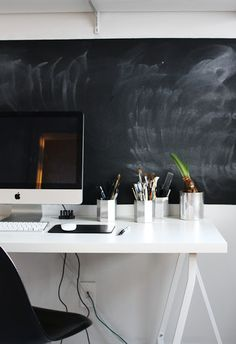 Because we are constantly brainstorming it will be great to have chalk board wall in our office space.