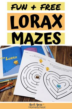 Your kids will love these fun & free printable Lorax mazes. Extend the learning fun with this popular Dr. Awesome ways to celebrate Earth Day & brilliant boredom busters, too. Sequencing Activities, Counting Activities, Hands On Activities, Kindergarten Lesson Plans, Kindergarten Activities, Preschool Printables, Preschool Ideas, Teaching Ideas, Rainy Day Fun