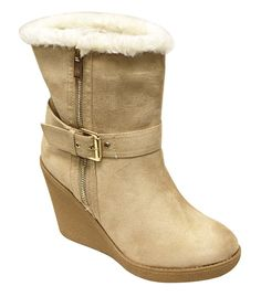 Womens Winter Hidden Wedge Lace Up Fur Lined Snow Ankle Boots Martin Shoes