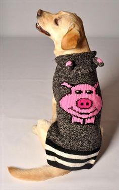 485223d26 Pink Pig Hooded Dog Sweater Designer Dog Clothes, Dog Boutique, Sweater  Hoodie, Dog