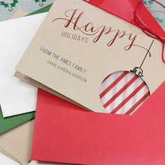 Make your own personalized holiday cards using these free customizable printables and instructions.