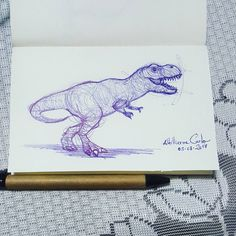 """109 curtidas, 12 comentários - Autoria: @altillierme_carlo (@desenhos_do_alti) no Instagram: """"T-Rex  #desenhosdoalti #desenhos #sketch #sketchers #sketchbook #art #artlovers #artbrazil…"""""""