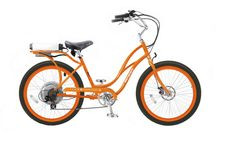 Pedego Electric Bike - Orange with black Step-Through Cruiser