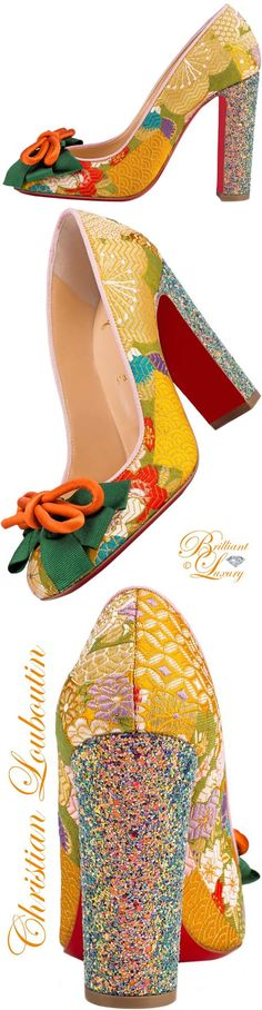 Brilliant Luxury ♦ Christian Louboutin Dolly Dola Tissu Obi/Glitter Dragonfly #shoes #louboutinworld