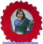 El sanatları - Örgü işleri: Yünden fotoğraf çerçevesi nasıl örülür Crafts - Knitting Works: How knitted wool photo frame