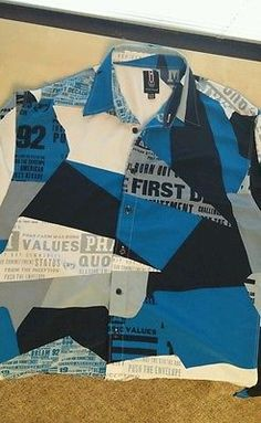 Phat Farm XL Mens Shirt Button Front Blue in Color Used