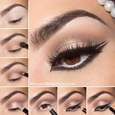 something to try. for bigger looking eyes, outline with white eyeliner in waterline first. then follow with brown or black eyeliner underneath
