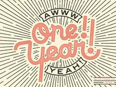 Dribbble - One Year Anniversary Poster by Misa Rodriguez