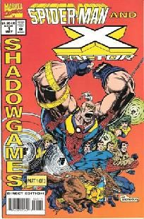 Spider-Man and X-Factor - Shadowgames 1 2 3 complete set ---> shipping is $0.01!!!