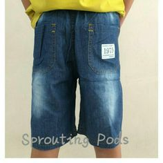 [New] BN Soft Denim Shorts for Boys. (Sizes:130,140,150) Denim  shorts with elastic waistband. Thin and soft material makes this pair comfortable for your active little one to wear in weather like SG. Suitable for little boys between 7-10