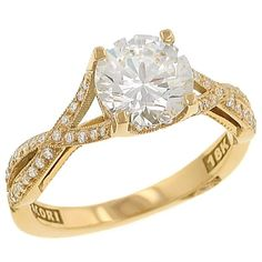 Simply Tacori Collection Fancy Twist Pave Diamond Engagement Ring Diamond .22cttw (center Stone Not Included)