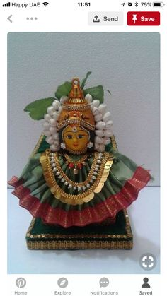 Varalakshmi Vratham 2019 honours the most popular Goddess Maha Lakshmi. Varalakshmi Puja or homam on this day means abundant wealth is sure to come your way. Indian Wedding Decorations, Flower Decorations, Ceremony Decorations, Silver Pooja Items, Ganapati Decoration, Pooja Room Door Design, Diwali Craft, Flower Rangoli, Marriage Decoration