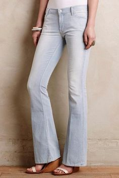 NEW ANTHROPOLOGIE $196 Mother Cruise Flare Jeans Mid Rise Women's Pants USA NWT #Anthropologie #Flare