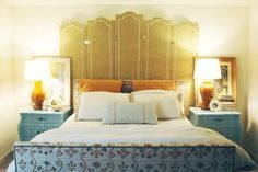 Little Green Notebook: That one bed I upholstered a long time ago...