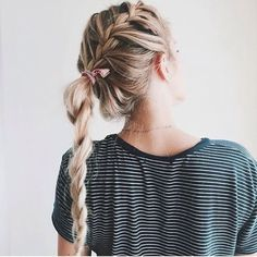 Step Up Your Braid Game With the Best French Braids On Pinterest | Dutch Braid Into Twisted Pony