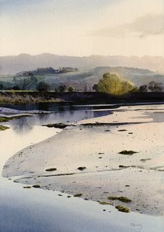 Llyn Bach, an original watercolour painting by Rob Piercy, Lakes and Rivers, Wales,Snowdonia,Porthmadog, 27 cm x 39 cm