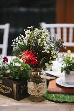 Australian centrepieces - Winter Wedding at Millbrook Winery from White Tulip Photography Read more - http://www.stylemepretty.com/australia-weddings/western-australia-au/2013/10/07/winter-wedding-at-millbrook-winery-from-white-tulip-photography/