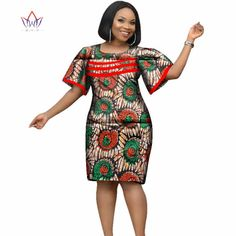 2018 Africa Dress For Women African Wax Print Dresses Dashiki Plus Size Africa Style Clothing For Women Office Dress Short African Dresses, Latest African Fashion Dresses, African Print Dresses, African Print Fashion, Africa Fashion, African Women Fashion, Ankara Fashion, African Men, African Prints