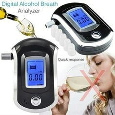 Police LCD Digital Breath Alcohol Tester Personal Breathalyzer Detector Meter US Fun Drinks Alcohol, Alcoholic Drinks, Green Led Lights, Gadgets, Relative Humidity, Alkaline Battery, Wish Shopping, Tv Videos, Alcohol