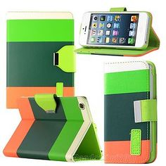 Film+ PU Leather Wallet Flip Case for ipad Mini/Iphone 4/4S/5 Samsung SIV i9300