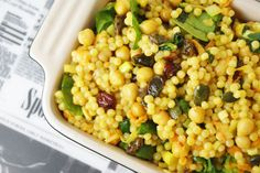 Curried Giant Couscous Salad (In German and English)