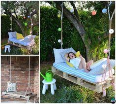 DIY Kids Pallet Swing Instructions