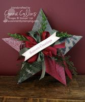 Constantly Stamping: Deck the Halls Barn Star Christmas Ornament