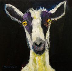 Title  Goat Gloat   Artist  Diane Whitehead   Medium  Painting - Oil On Canvas