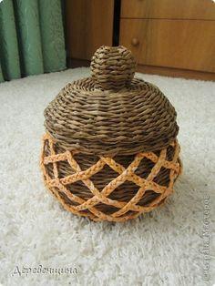 Поделка изделие Плетение попытка перепрыгнуть через голову Трубочки бумажные фото 1
