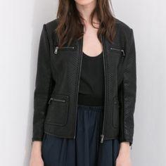 Zara jacket New with tag. Faux leather. Zara Jackets & Coats
