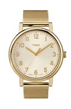 Timex® 'Easy Reader' Mesh Bracelet Watch