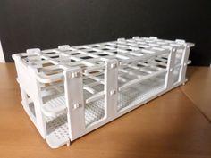 BEL-ART No-Wire Plastic Folding 40-Position 20mm Test Tube Rack Holder Support #BelArtScienceware