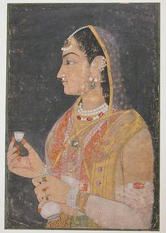 Portrait of a Woman Object Name: Illustrated album leaf or single work Date: 18th century Geography: India Culture: Islamic