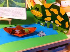 plastic-oogjes als kikkerdril, super idee!  Kleuterjuf in een kleuterklas